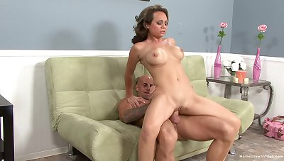 Milf throats it then rides it merciless
