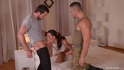 Fantasy sex at home with two horny dudes