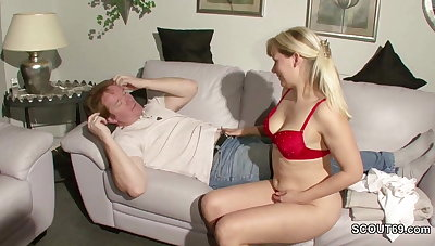 German MILF Seduce Young Man To Fuck When Alone Home