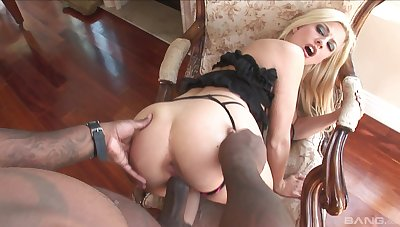Doggy style perfection with the blonde maid