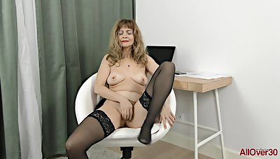 Granny Whore With Stockings - Hot Solo Session
