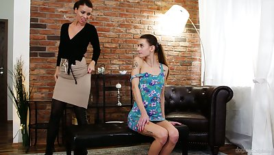 Young Czech pamper Adele Unicorn is fucked and licked by experienced sapphic