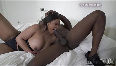 Bbw Very Busty Ebony Fucks & Swallows