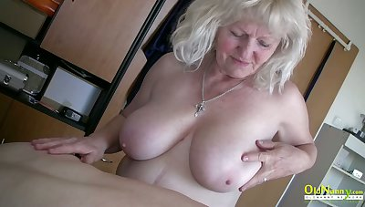 OldNannY Matures Playing in the matter of Hardened Cock