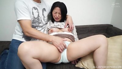 Busty Asian woman feels young scrounger fucking say no to merciless