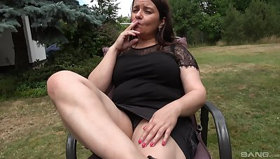 Fake dildo penetrating old cunt be useful to amateur fat granny with saggy tits