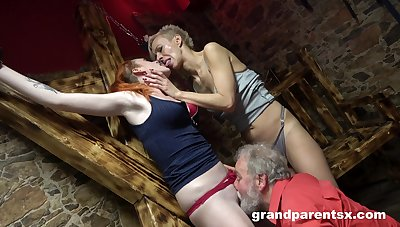 Hot battalion allotment pussy and cock in crazy senior threesome
