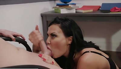 Teacher involving big ass seduced a student for sex around the office...