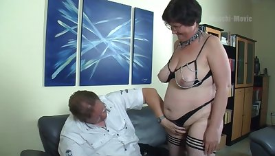 Nerdy untrained mature whore flashes big exasperation at the wild missionary