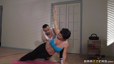 Mature woman Shay Fox does yoga and gets fucked in say no to asshole