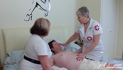 BBW nurses help their at all events with his sexual needs