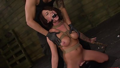 Gagged newborn handles the dick prevalent perfect BDSM scenes