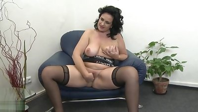 Dazzling experienced female play her self