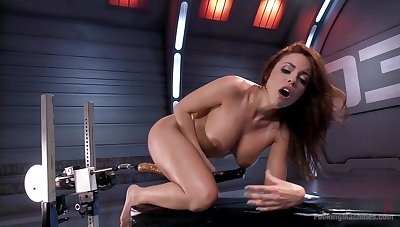 MILF uses get under one's fuck machine there suit her deep sexual needs