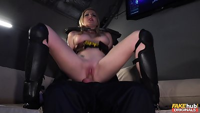 Hot blonde rides in extreme fetish scenes