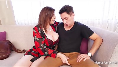 Sexually Attractive Busty Mommy Fucks Young Man