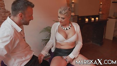 Horny broad in the beam tit blonde MILF Valentina Babe has been craving a eternal fucking