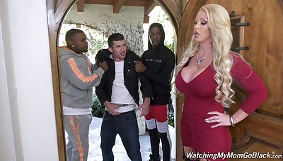 Giant bottomed characterless MILF Alura Jenson is hammered doggy by black blank out