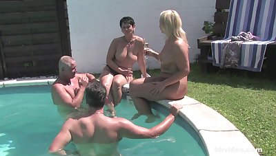 Mature amateurs fucked by the conjoin by their mature husbands