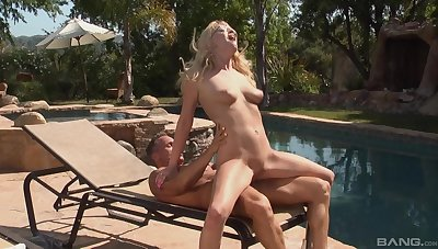 In the altogether blonde loves the heavy riding porn at the end of one's tether the pool