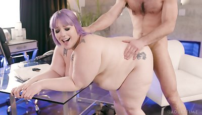 BBW takes cock hard and wants thither swallow  alot