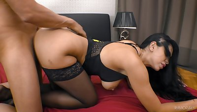 Zealous busty brunette Kira Queen merely enjoys riding stained weasel words