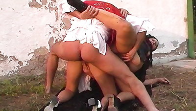 outdoor anal orgy at the family farm