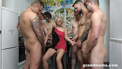 Retired whore Marta goes wild with two hot and young dudes