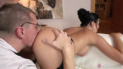 Ania Kinski and a lover trade ass skunk duties during a marketable screw