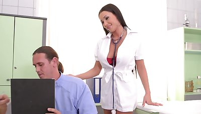 Sexy nurse wants both these big dongs wide gag her and creme de la creme her ass