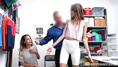 Sexy MILF McKenzie Lee pays for guilty stepdaughter with hard fuck