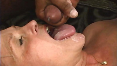 Granny Loves the Taste of All the Cum
