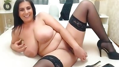 Busty Brunette Cougar Smoking X-rated & Playing