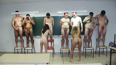 Horny teachers sucking in classroom